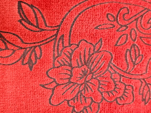 Microfiber Towel Red Printed