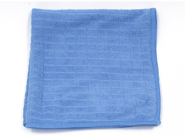 Microfiber Weft Knitted Towel With Plaid Pattern 2
